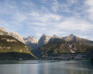 Italien, Trentino, Blick auf die Brenta, Lago di Molveno 09/2010