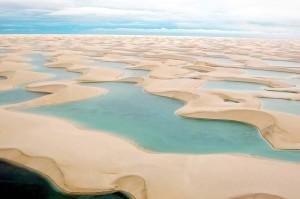Dune e lagune  in Brasile viste dall'aereo