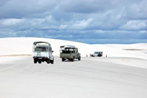 Brasile, turisti sulle dune