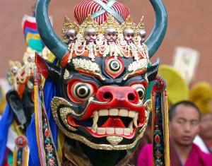 Una coloratissima maschera cinese