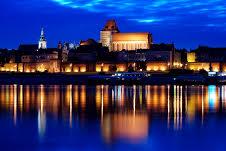 La città di Torun affacciata sul fiume Vistola