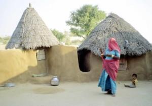 India, caratteristico villaggio del Thar