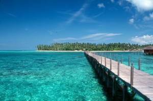 Il mare incantevole della Malesia