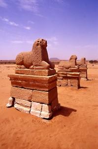 Gli arieti di Naga in Sudan