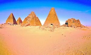 Piramidi di Napata in Sudan