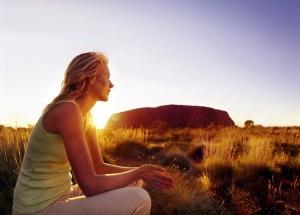 La montagna sacra degli aborigeni, l'Uluru, in Australia