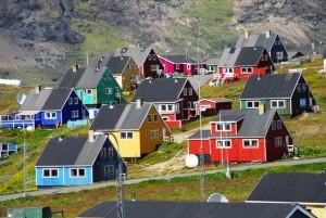 Colorato Villaggio in Groenlandia