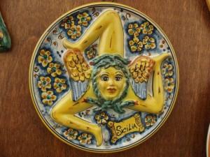 La Trinacria in ceramica