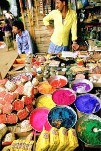Il mercato a Kerala nell'India meridionale