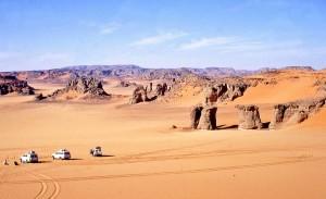 Picchi sulle dune in Algeria