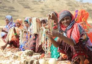 Donne nelle isole Dalhak nel Corno d'Africa