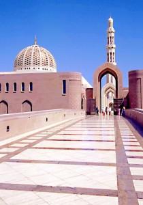 La moschea di Muscat in Oman
