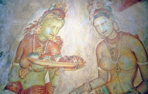 Sri Lanka, pittura a Sigiriya