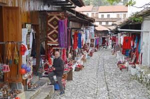 Albania, bazar di Cruja