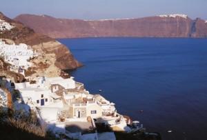 Una veduta dell'isola di Santorini