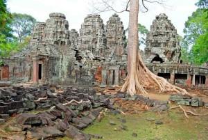 Cambogia, particolare del compleesso di Angkor