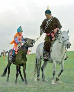 Mongolia, cavalieri alla festa del Naadam