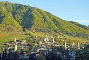 Georgia, Svaneti, Metsia