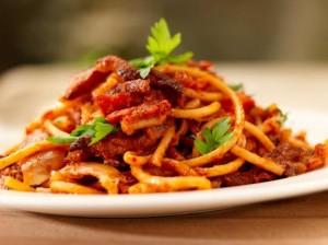 Amatrice, spaghetti all'amatriciana