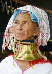 Birmania, donna Padaung-Karen