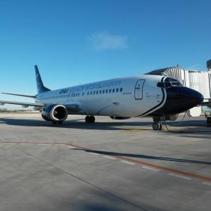 Un aereo della flotta di Blue Panorama