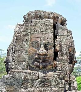 Cambogia, testa di Anghor