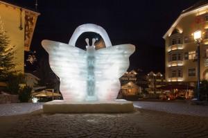 Val Gardena, scultura di ghiaccio
