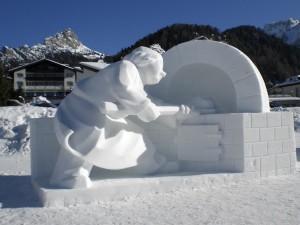 Val Gardena, sculture di ghiaccio