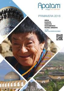 La cover del catalogo di Aparam Viaggi