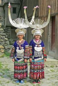 Cina del Sud, le acconciature delle donne Miao