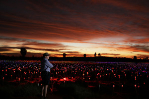 Bruce Munro at Field of Light ( Mark Pickthall)