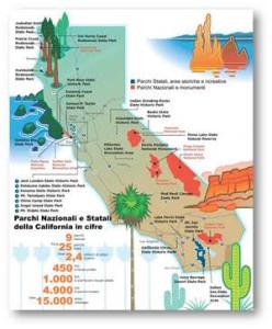 California, la mappa dei parchi