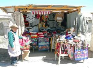 Cile, negozio folcloristico