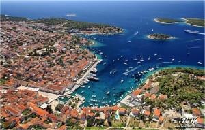 Croazia, Hvar, panorama