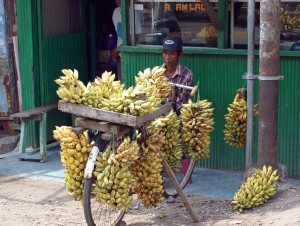 Indonesia, carretto con banane