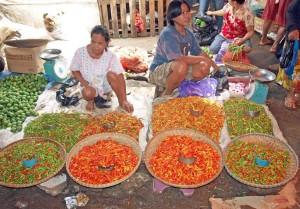 Indonesia, il coloratissimo mercato