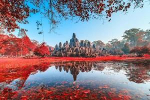 Cambogia, templi