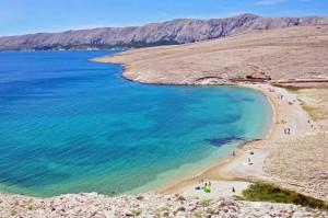 Metajna, la spiaggia