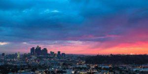 Lo skyline di Los Angeles