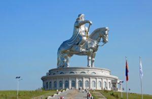 Mongoli,a monumento a Gengis Khan