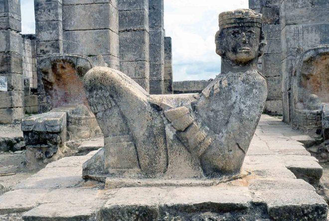 mess Chichen Itza, scultura